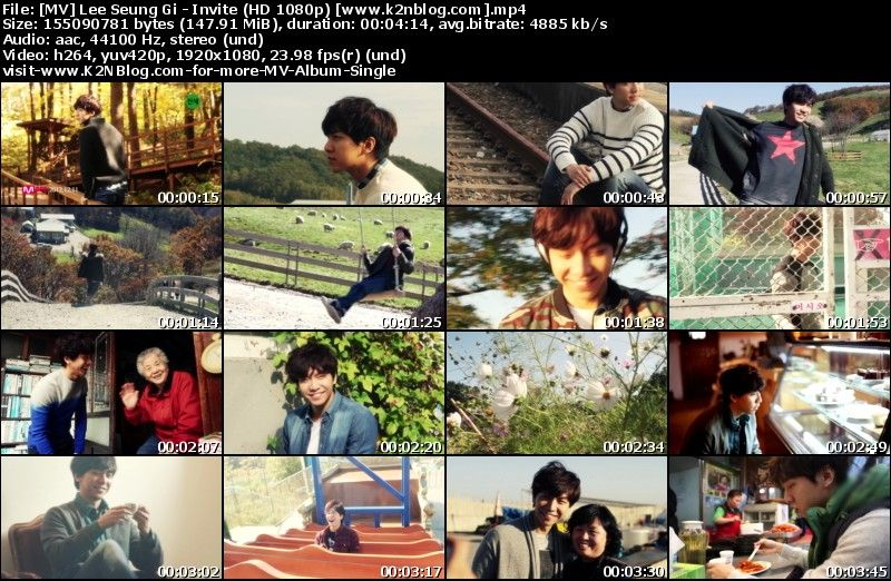[MV] Lee Seung Gi   Invite (HD 1080p Youtube)